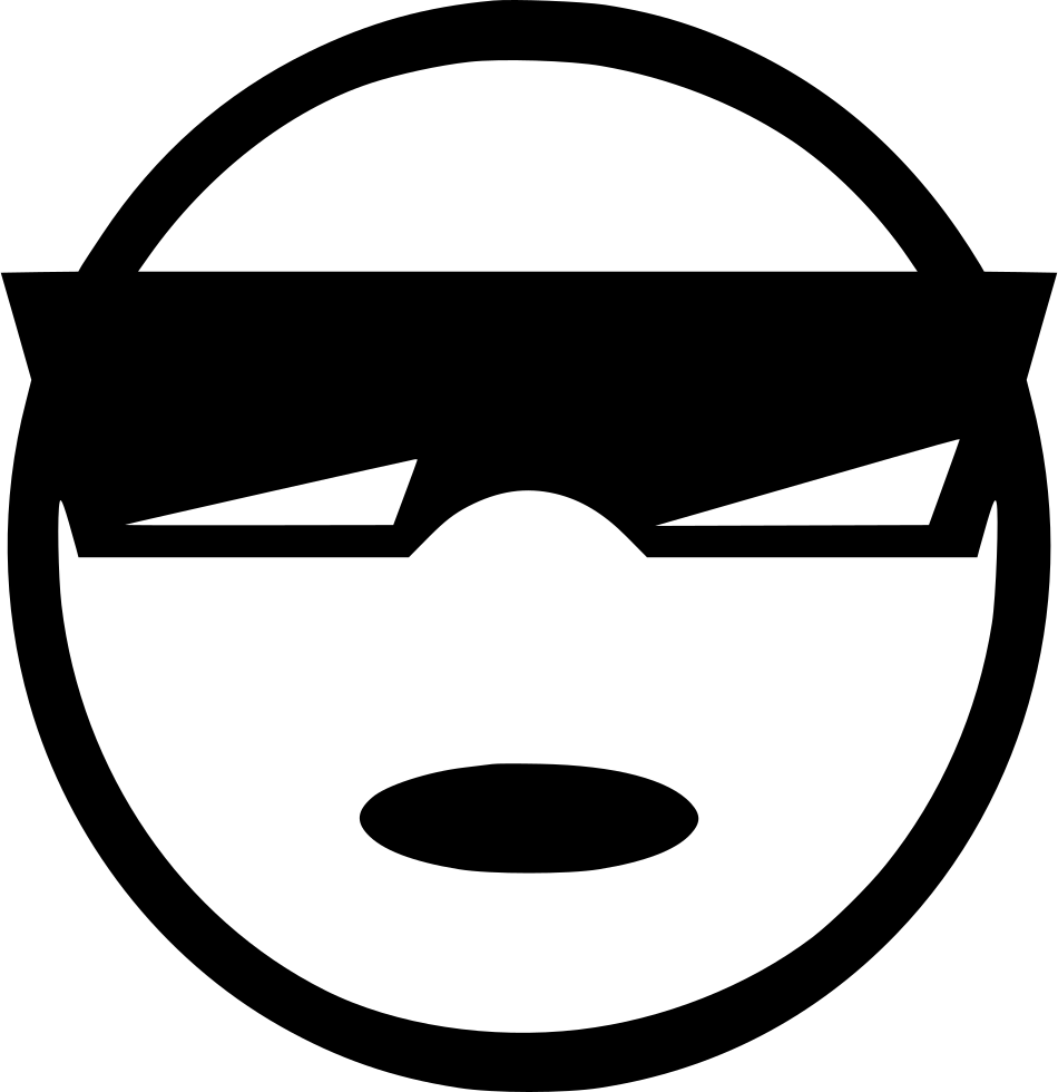 Wow clipart svg. Cool man emotion smiley