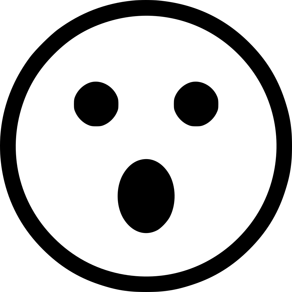 Wow face png. Surprise smile smiley svg
