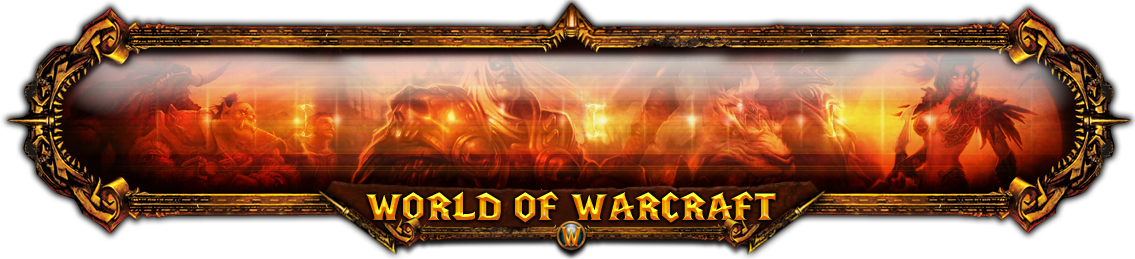 Wow! png banner. The world of warcraft