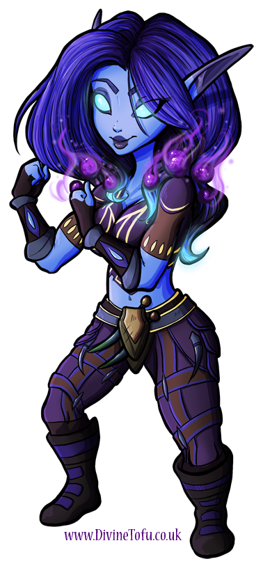 Drawing elves world warcraft. Esmerai wow chibi void