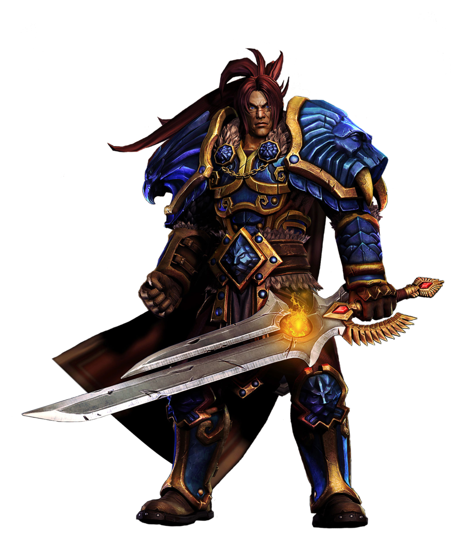 Wow! png human. Varian wrynn render by