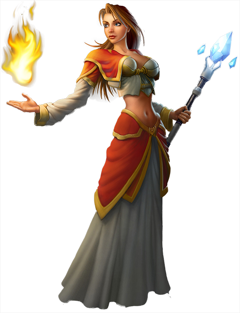 wow! png female mage