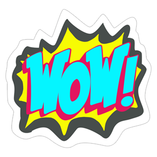 Wow sticker png.