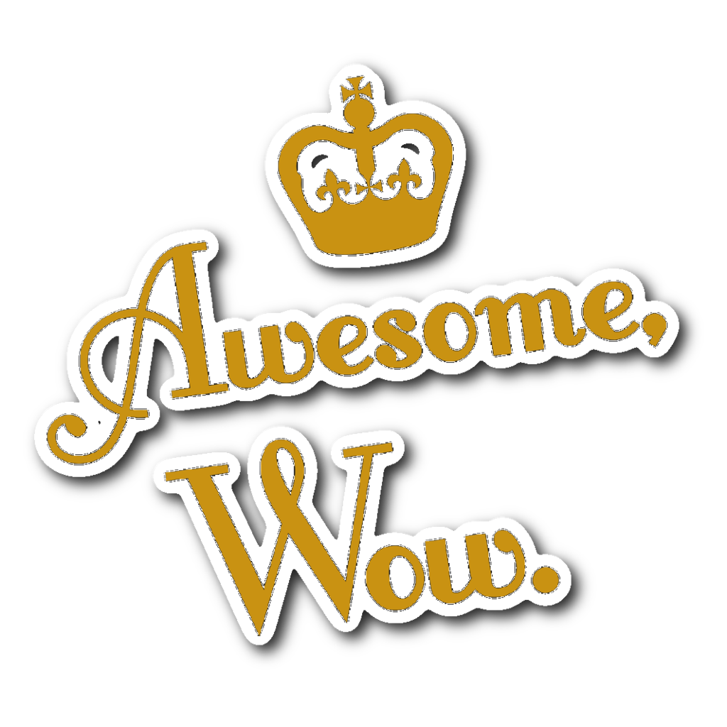 Wow sticker png. Awesome theatre nerds swag