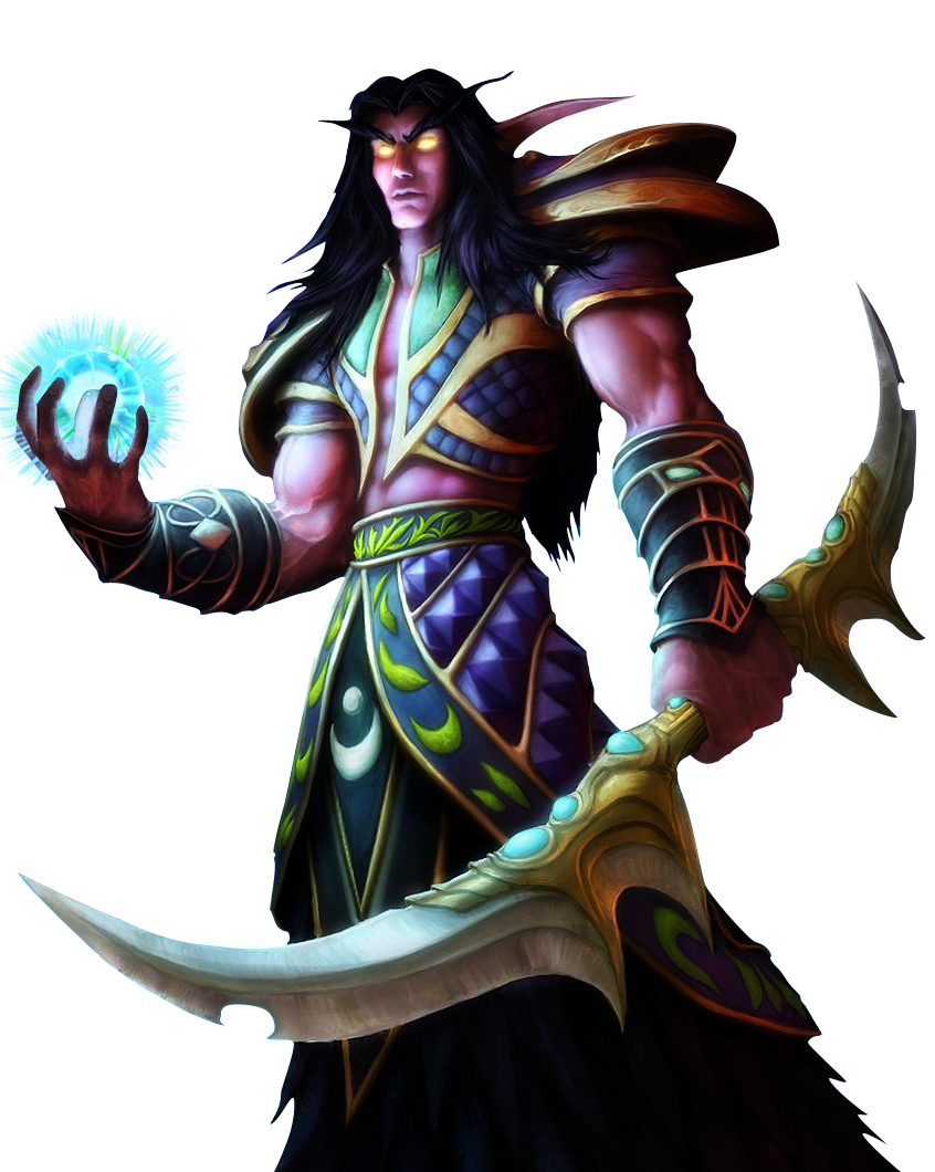 wow! png night elf