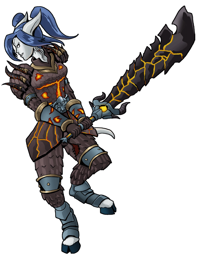 Wow warrior png. Draenei arms selaandra by