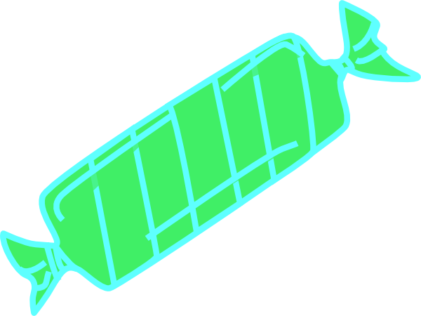 Wrapped candy png. Green clip art at