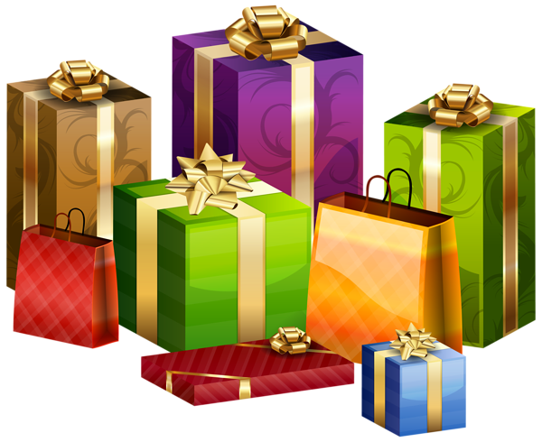 Wrapped gift png. Gifts transparent clip art