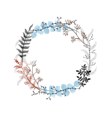 Wreath clipart pdf. Floral drawing at getdrawings