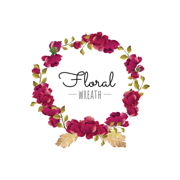 Burgundy flower png. Wreath vectors graphic resources