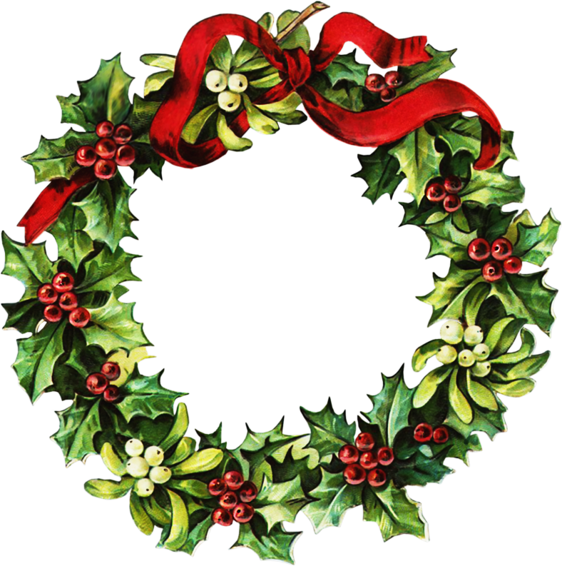 Wreath clipart vintage. Victorian christmas graphic images