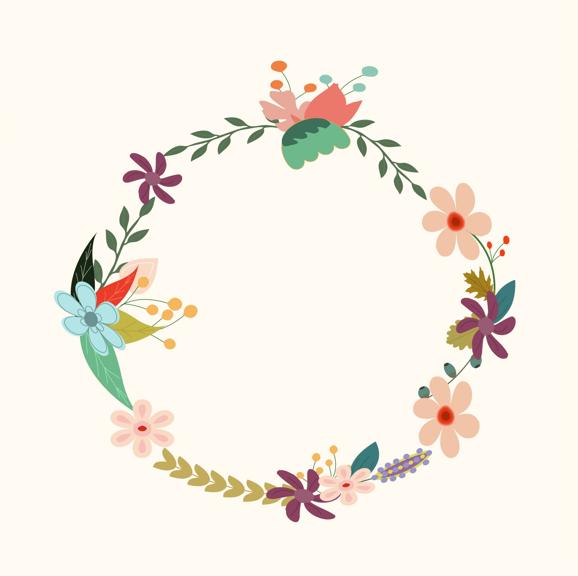 Wreath clipart vintage. Floral free stock photo