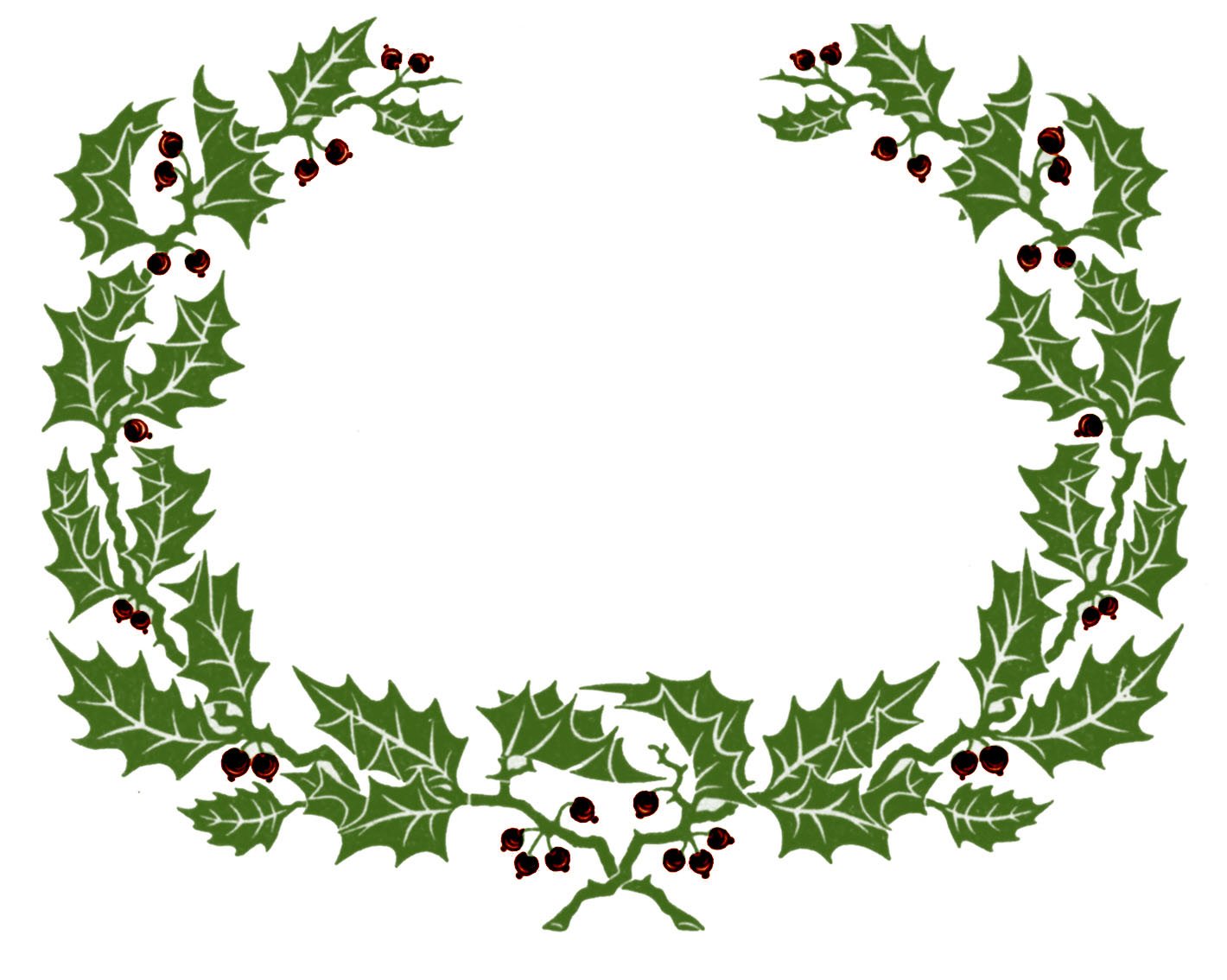 Wreath clipart vintage. Clip art holly graphic