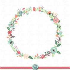 Wreath clipart vintage. A vector illustration of