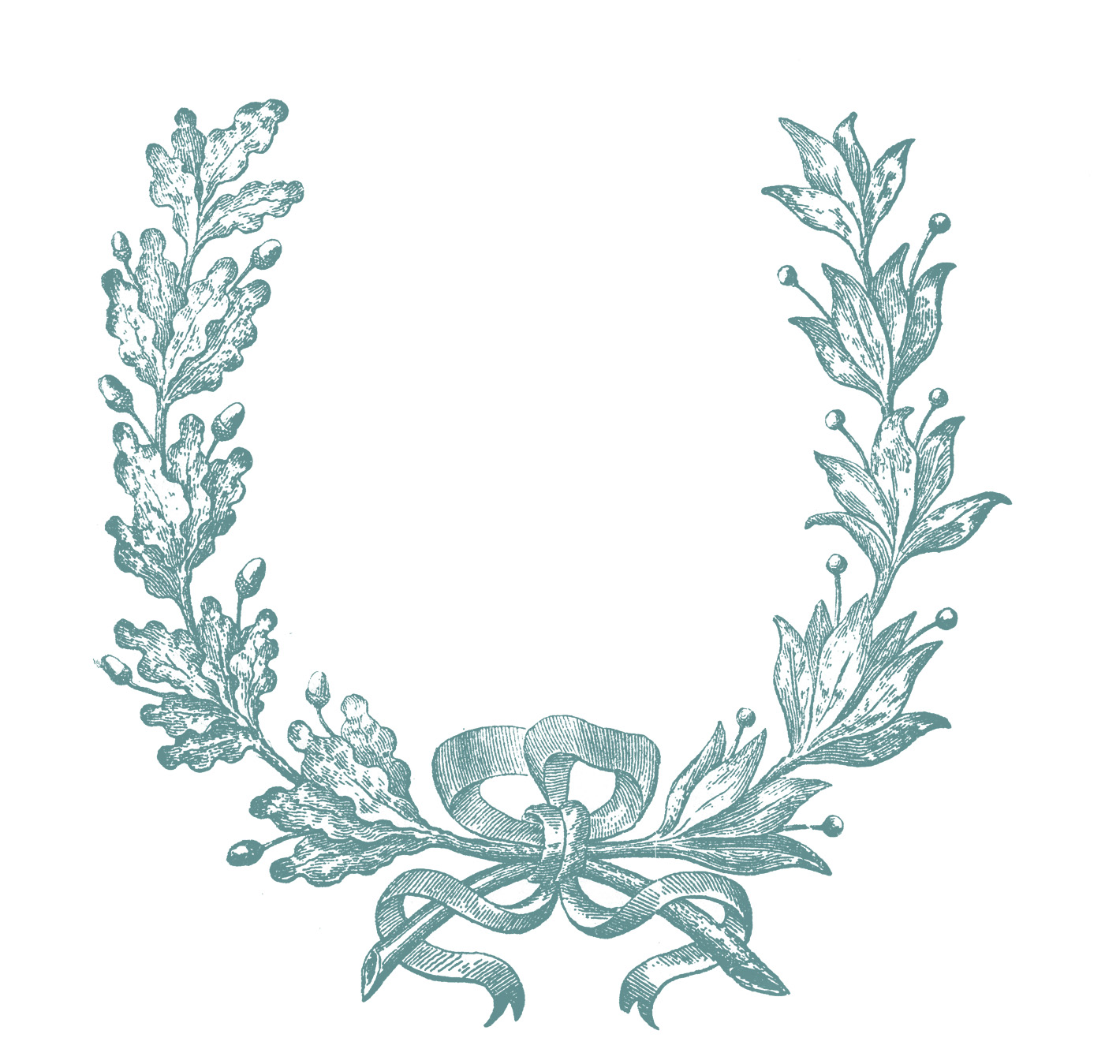 Wreath clipart vintage. Clip art french engraving