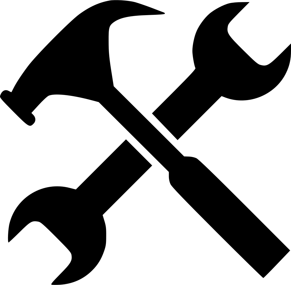 Wrench clipart work tool. Gear hammer job options