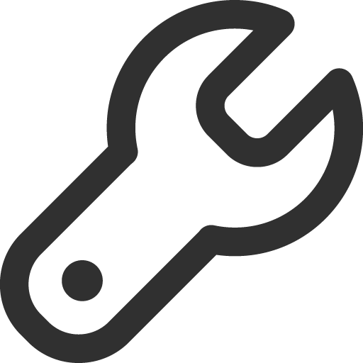 Wrench icon png. Mono general iconset custom