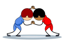 Wrestler clipart. Sports free wrestling to