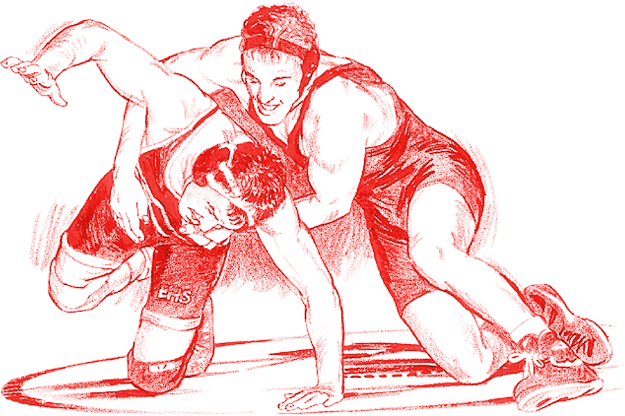 Wrestling clipart uniform. High school postville community