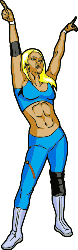 Wrestlers vector. Free girl wrestling cliparts