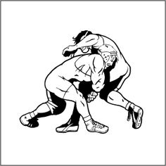 wrestler clipart two