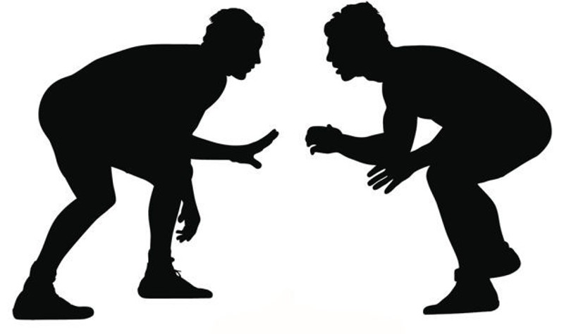 Wrestlers clipart. Wrestling silhouette at getdrawings