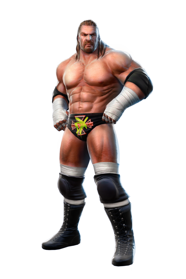 Wrestler drawing character wwe. Triple h giant bomb