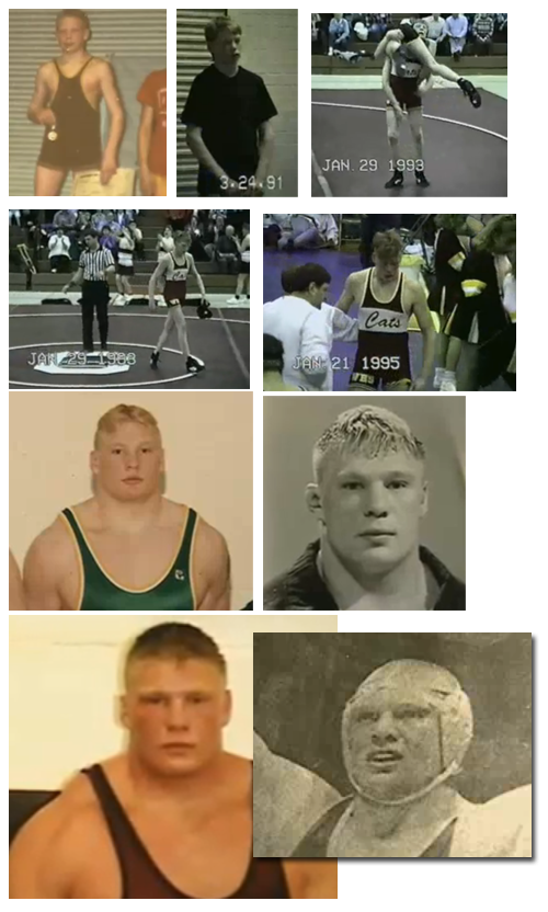 Wrestler drawing stance. The young brock lesnar