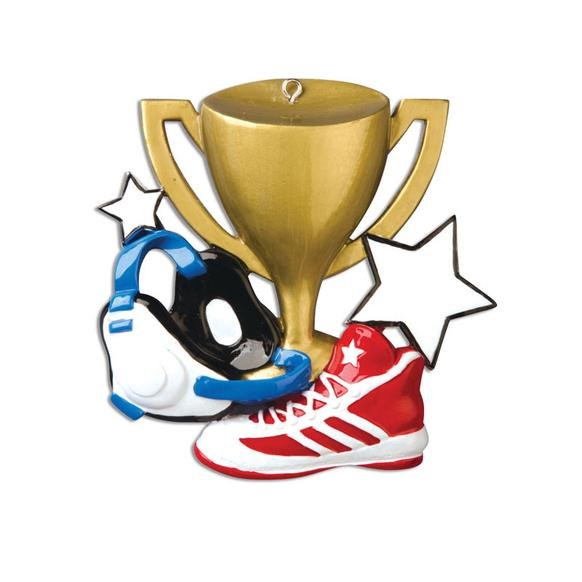 Wrestlers clipart trophy. Wrestling ornament christmas ornaments