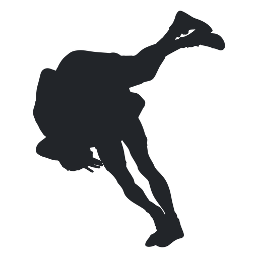 Wrestler takedown silhouette transparent. Wrestlers vector svg banner library download