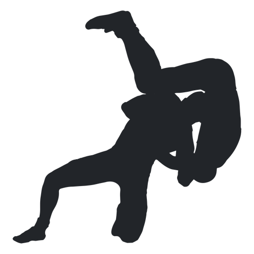 Wrestler throwing silhouette transparent. Wrestlers vector svg image library