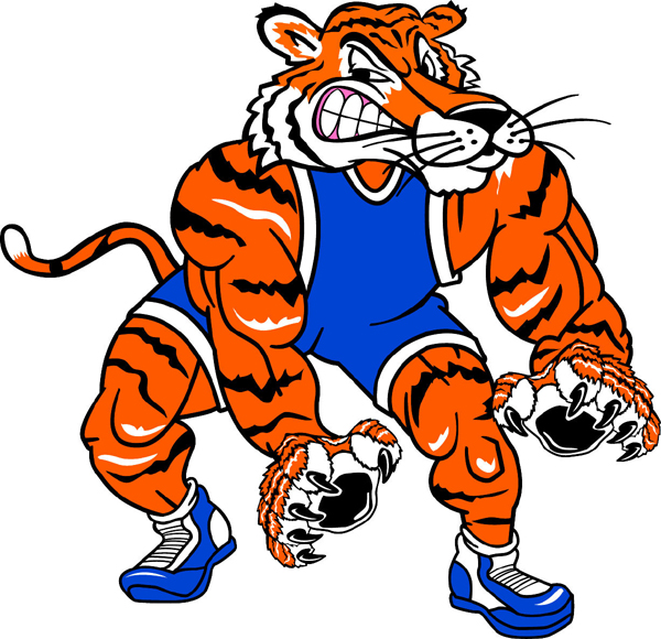 Wrestling clipart tiger. Wrestler pencil and in
