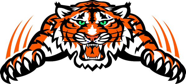 Wrestling clipart tiger. Fenton team home tigers