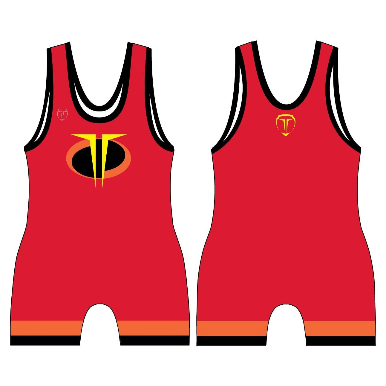 Wrestling clipart uniform. The supers singlet made