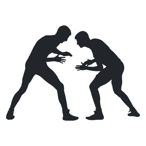 Men wrestling silhouette transparent. Wrestlers vector svg picture royalty free download
