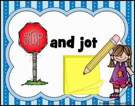 Write clipart jot. Stop and think more