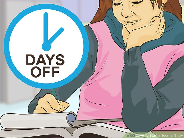 Write clipart journal entry. Ways to start