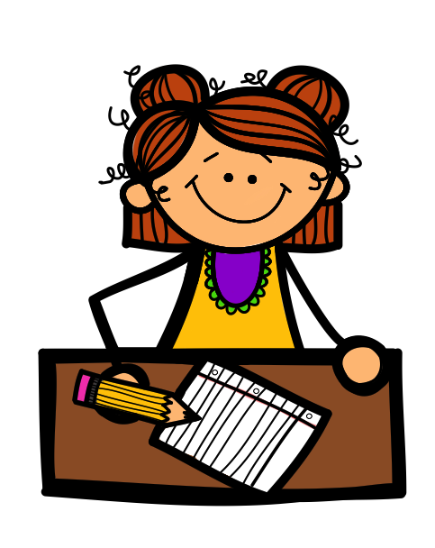 Write clipart little girl student. Boy and panda free