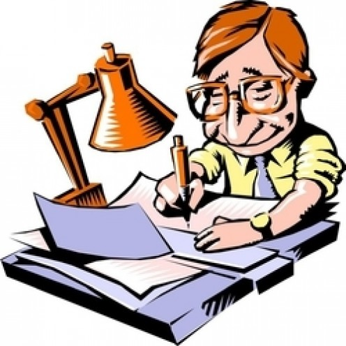 writer clipart book writer