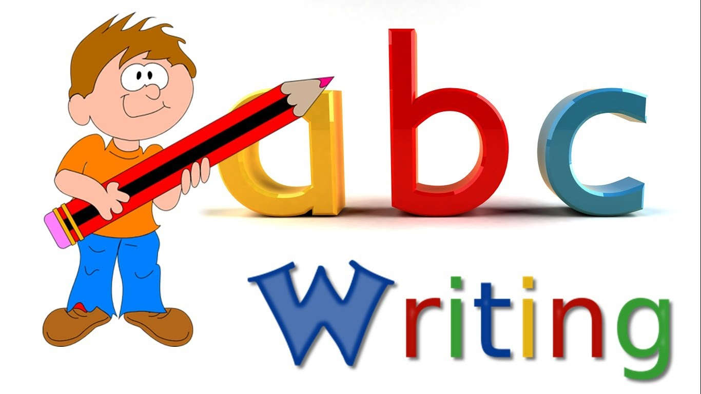 Writer clipart english writing. Abc alphabet small letters