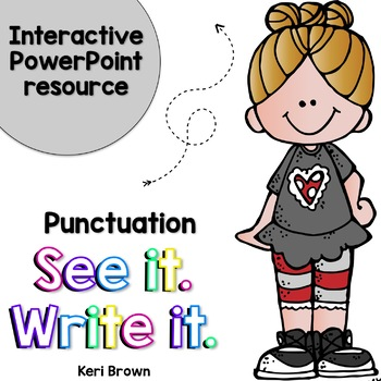 Writer clipart interactive writing. See it write punctuation