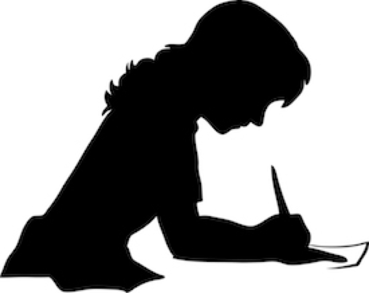Writer clipart silhouette. At getdrawings com free