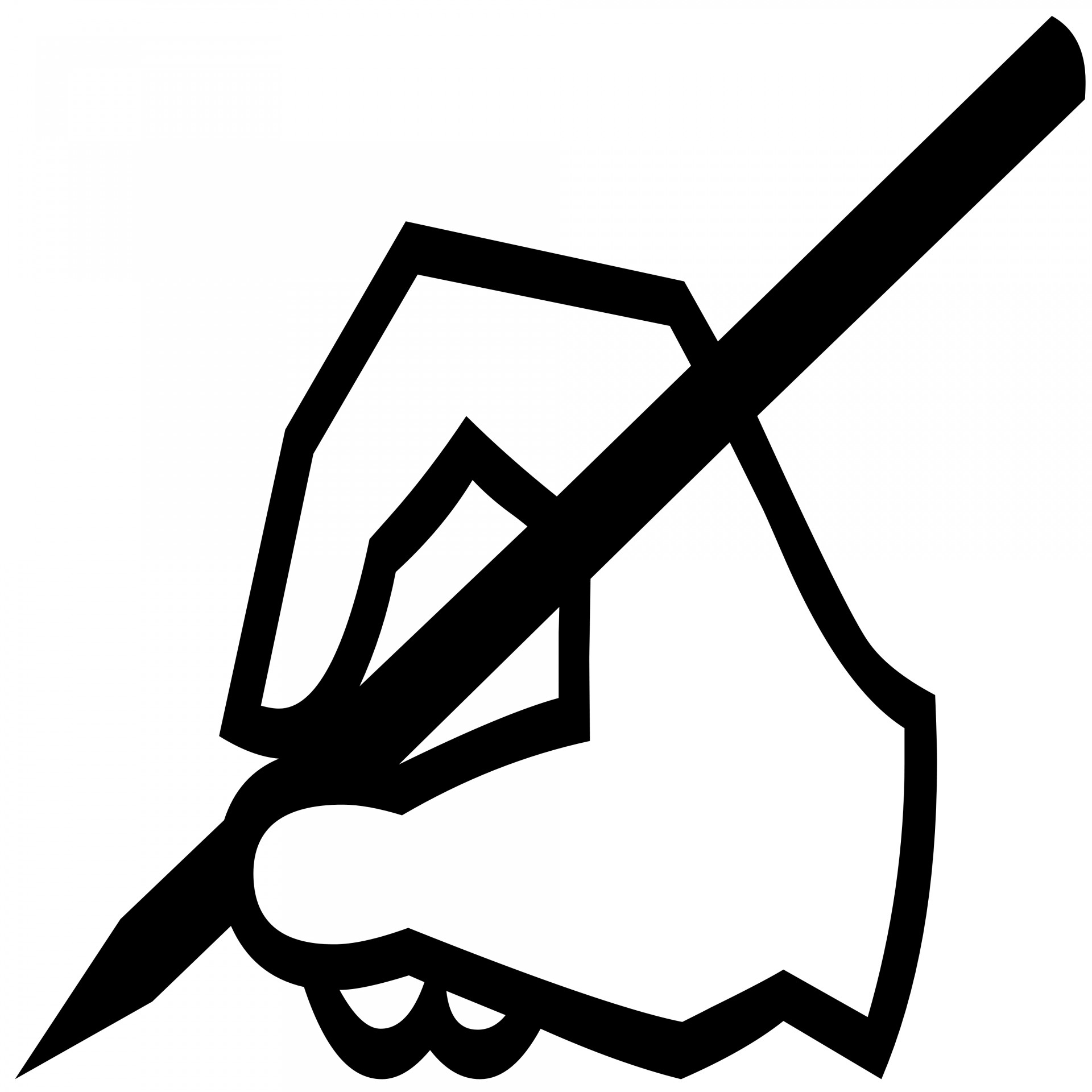 Writer clipart silhouette. Writing at getdrawings com