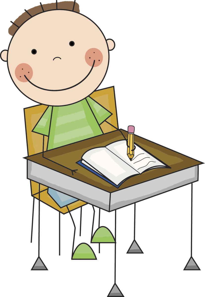 Writer clipart unfinished work. Png writing kids transparent