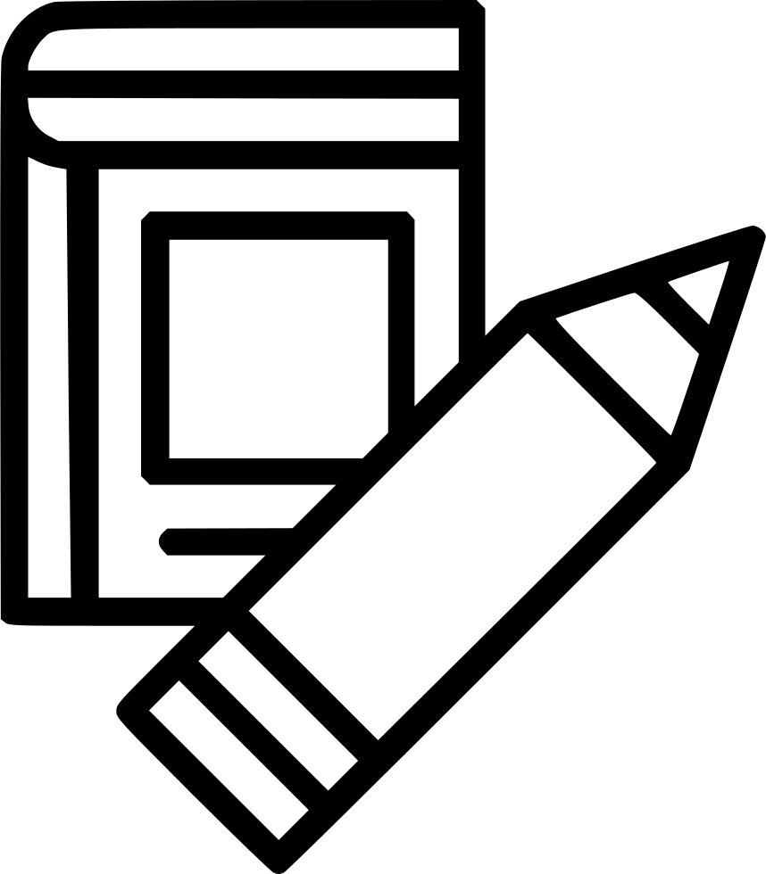 Writing book png. Svg icon free download