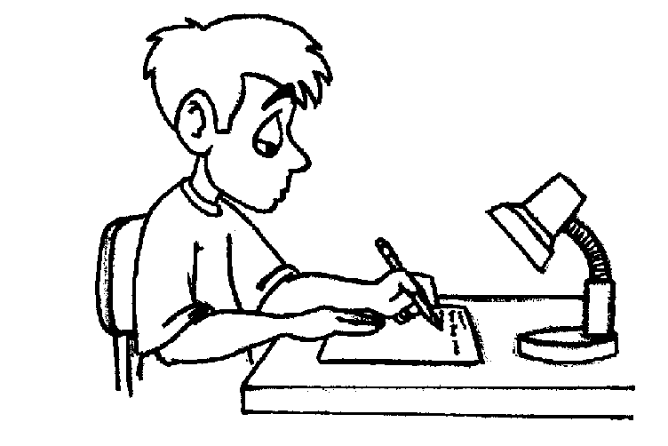Writing clipart black and white.
