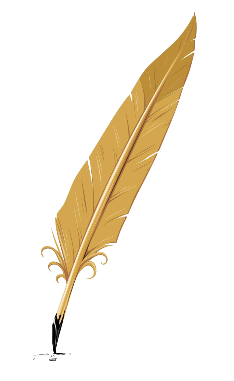 Writing feather png. Quill pen transprent free