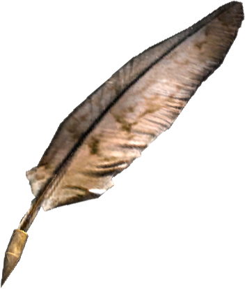 Writing feather png. Image tesv misc quill