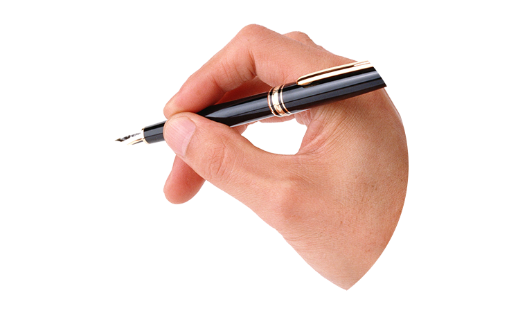 Writing hand with pen png. Contact us psug solutions