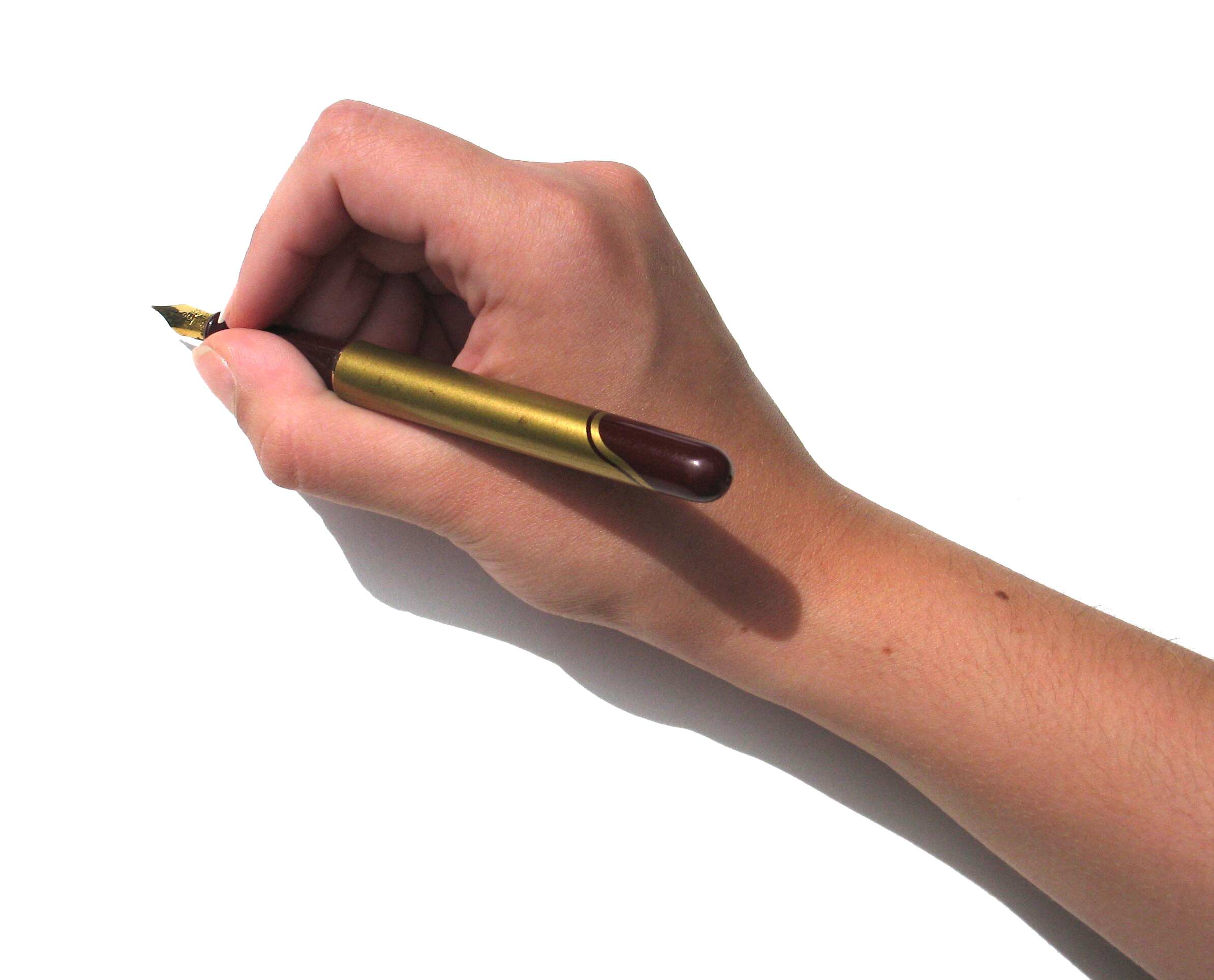 Writing hand with pen png. Paper handwriting take in